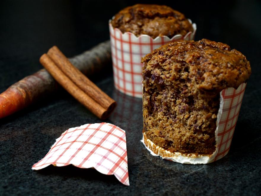 Muffins carotte-cannelle (sans gluten)