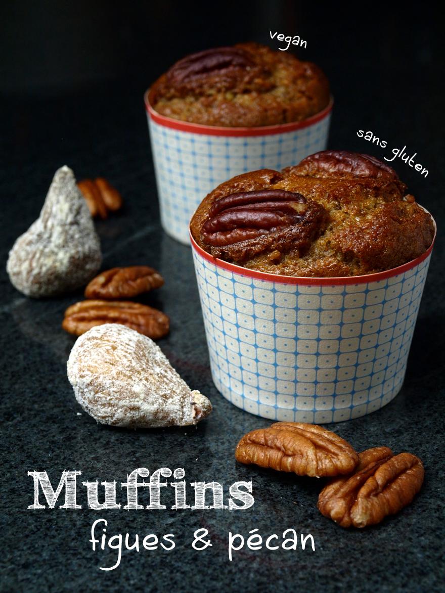 Muffins sans gluten aux noix de pécan et figues sèches