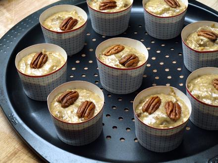 Muffins sans gluten pécan-figue avant cuisson