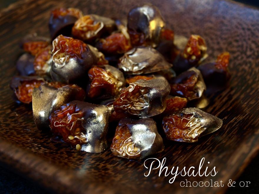 Physalis au chocolat noir