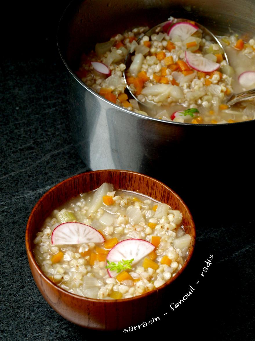 Soupe détox fenouil-sarrasin