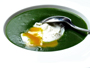 Recette soupe d'épinards et oeuf poché