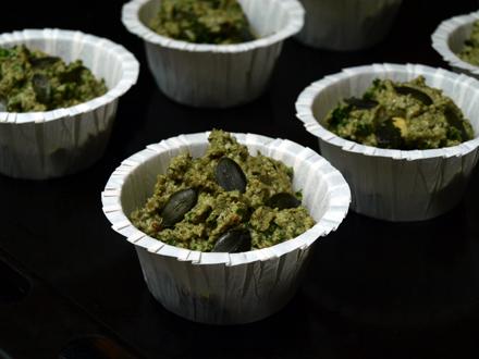 Muffins apéritifs sans gluten avant cuisson