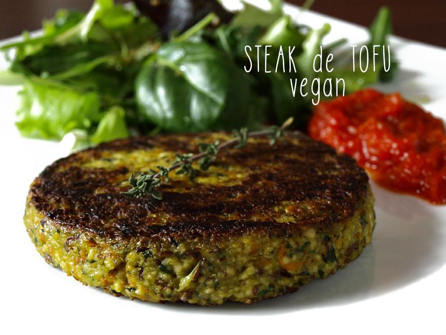Steak de tofu végétalien maison