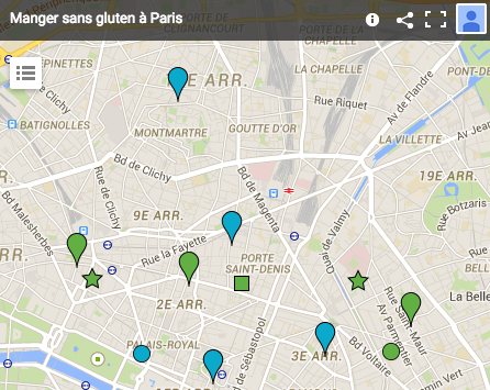 Adresses sans gluten à Paris