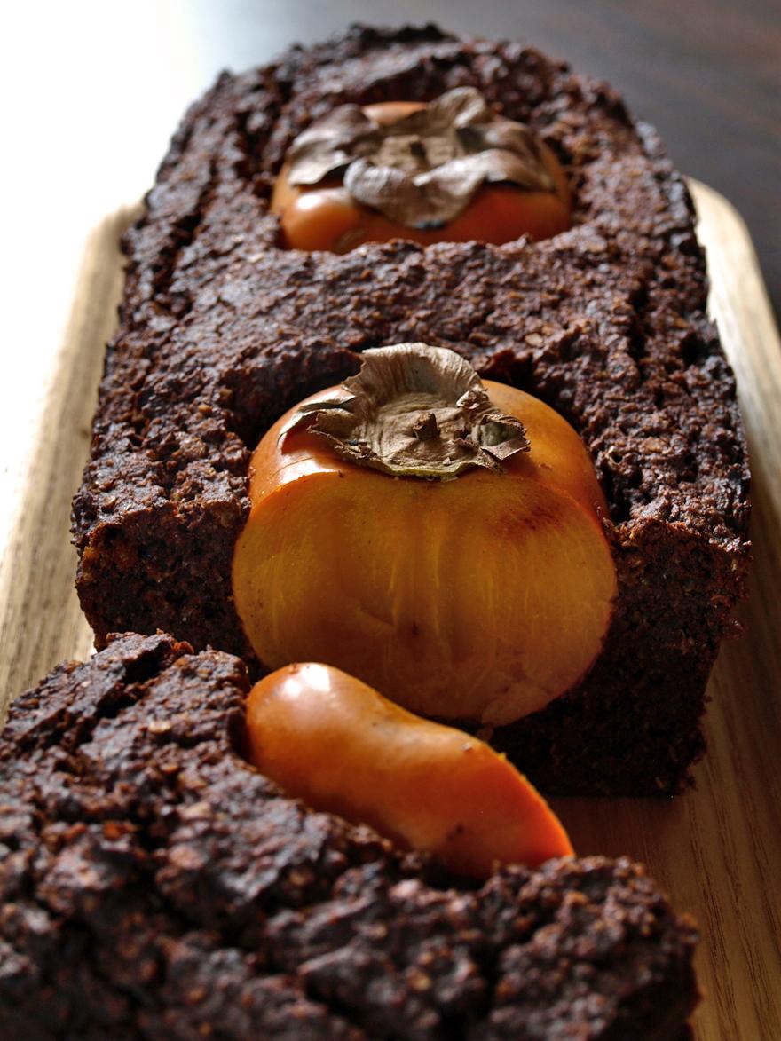 Gâteau chocolat sans gluten tranché