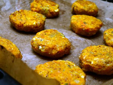 Croquettes de butternut à mi-cuisson