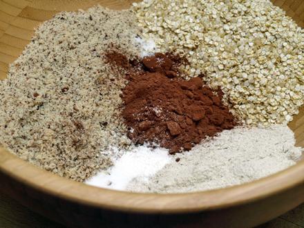 Ingrédients secs gâteau chocolat quinoa