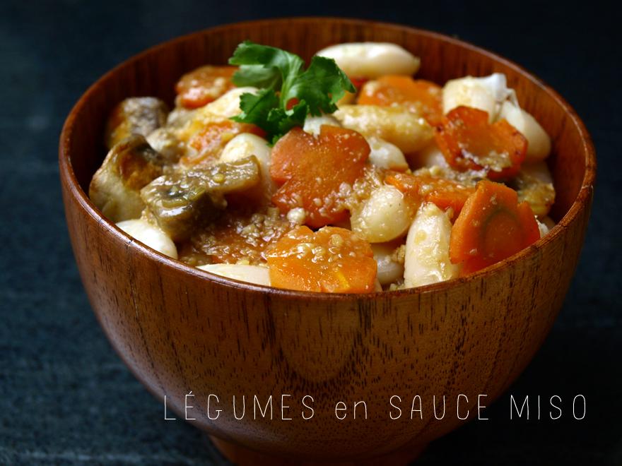 Légumes en sauce au miso blanc