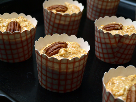 Muffins sans gluten avant cuisson