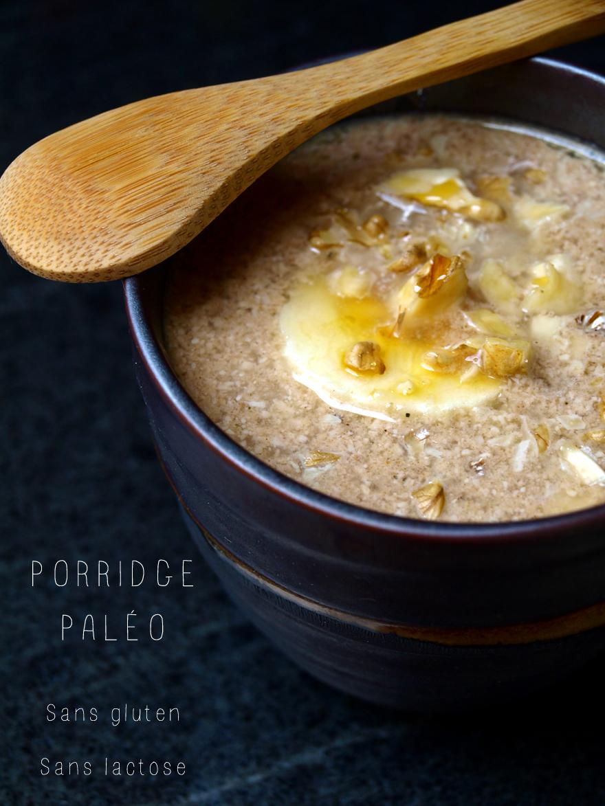 Porridge paléo (sans gluten, sans lactose)