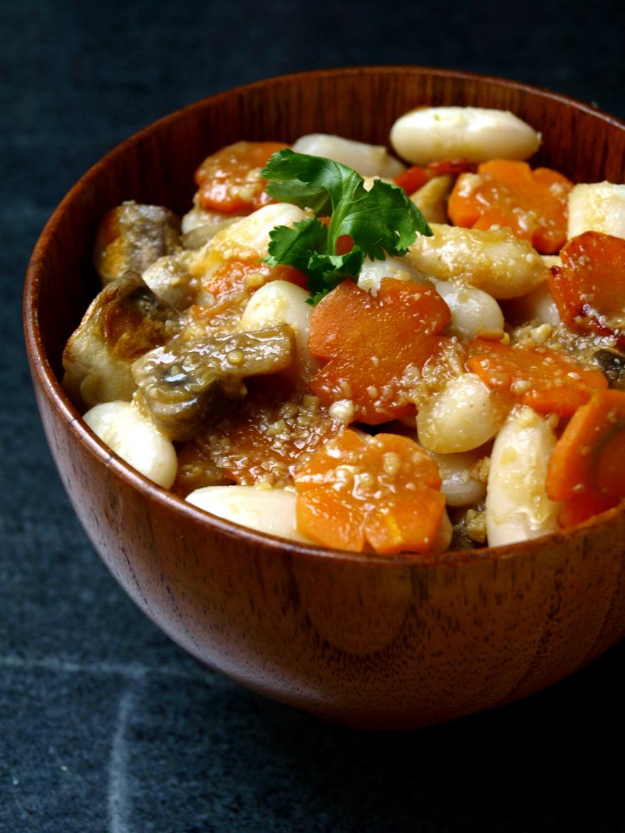 Sauce au miso blanc pour poêlée de légumes