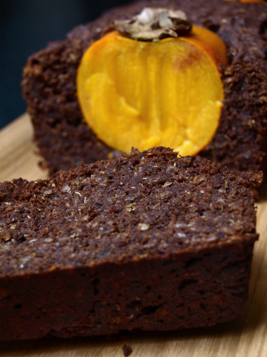 Tranche de gâteau chocolat-quinoa sans gluten