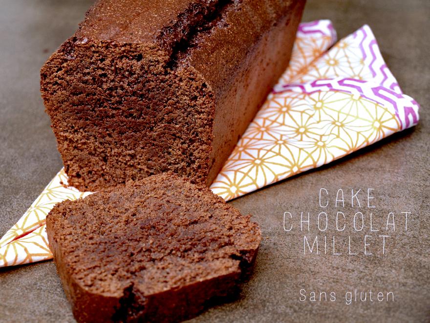 Cake au chocolat sans gluten à la farine de millet