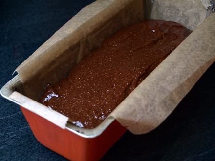 Cake au chocolat sans gluten avant cuisson