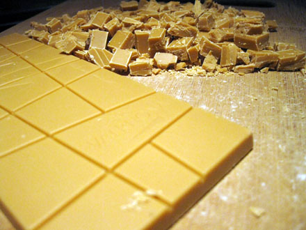 Chocolat blond Dulcey de Valrhona