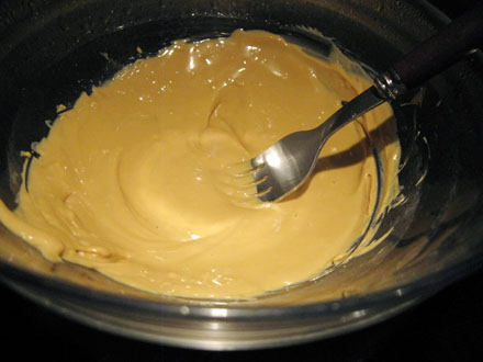 Chocolat blond fondu