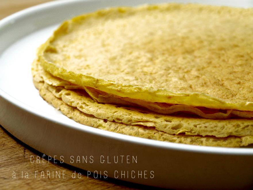 Crêpes sans gluten à la farine de pois chiches
