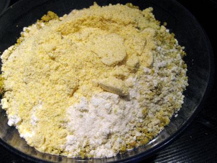 Ingrédients pour la base sablée à la pistache