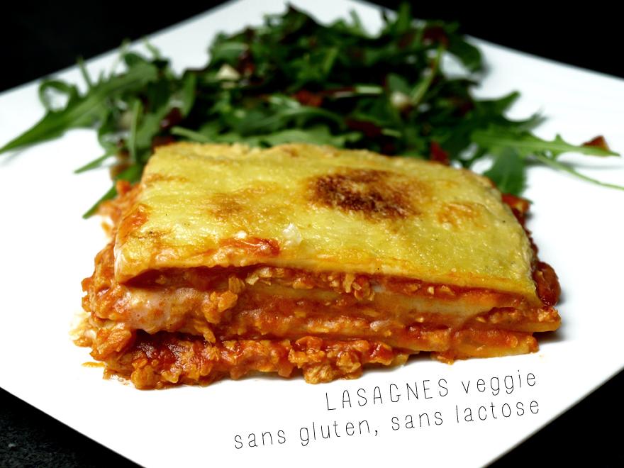 Part de lasagne sans gluten, sans lactose