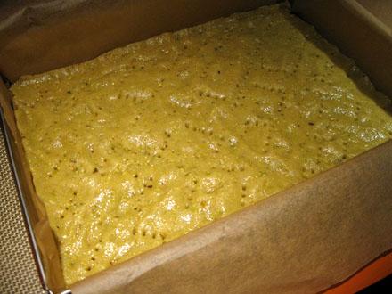 Pâte sablée à la pistache avant cuisson