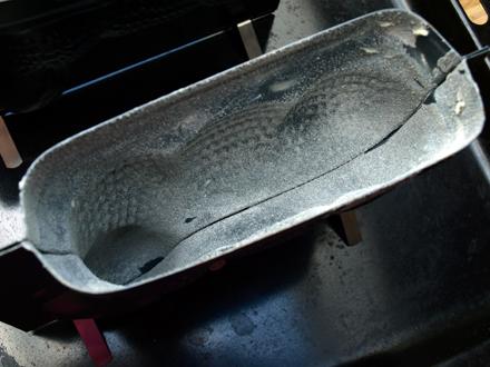Moule à lamala beurré et fariné
