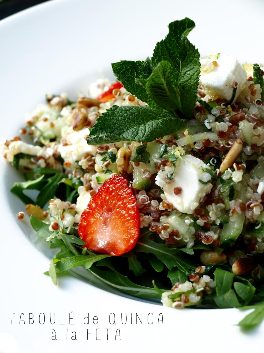 Taboulé de quinoa à la feta (sans gluten)