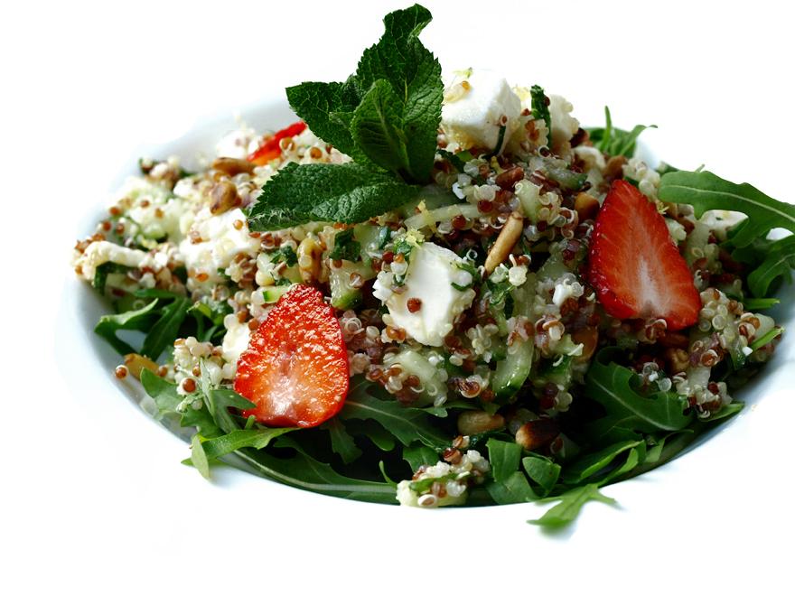Taboulé sans gluten quinoa, et feta