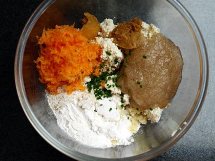 Ingrédients pour galette de tofu maison