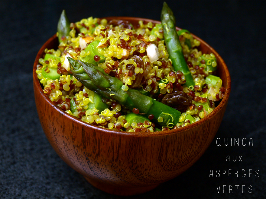 Salade de quinoa aux asperges vertes