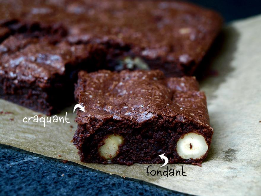 Brownies au chocolat, sans gluten, sans lactose