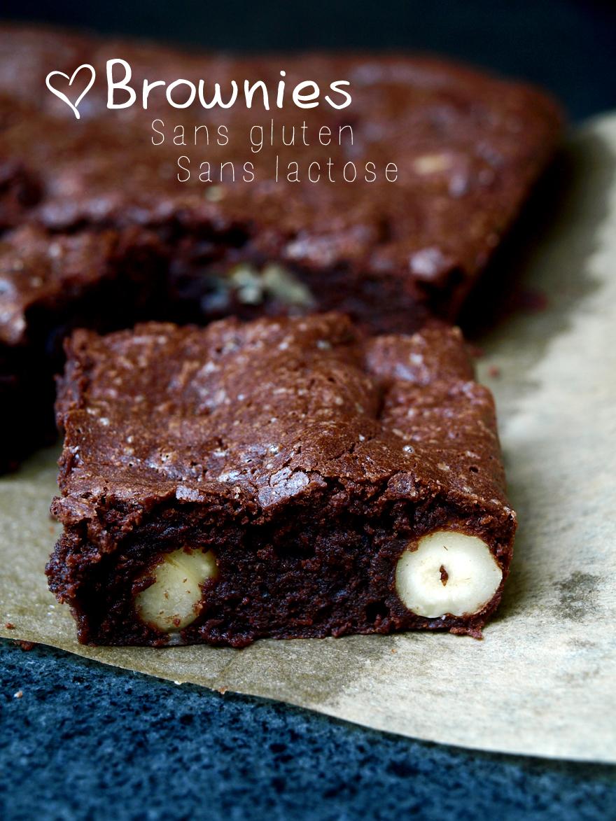 Brownies sans gluten, sans lactose