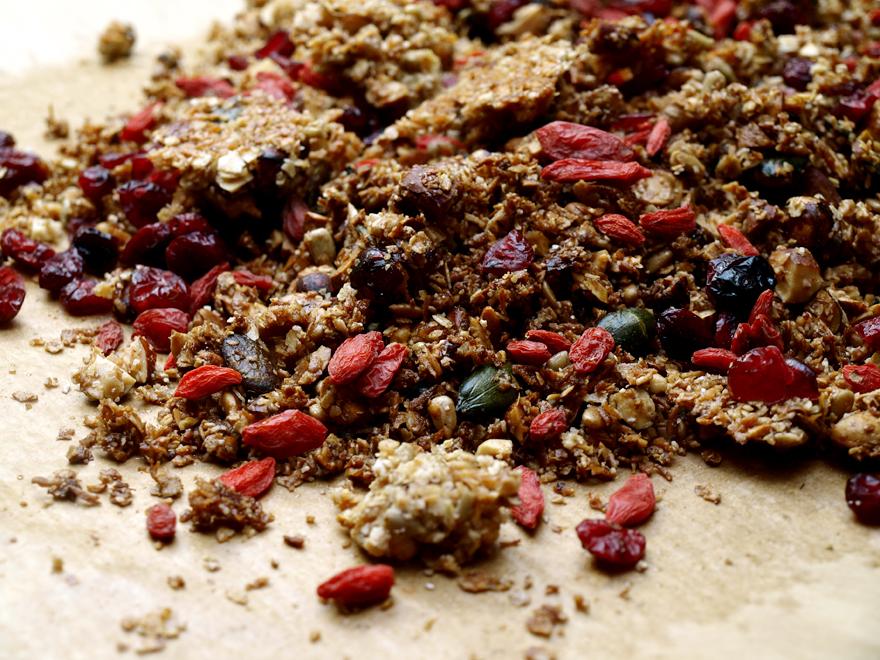 Granola sans gluten au sarrasin