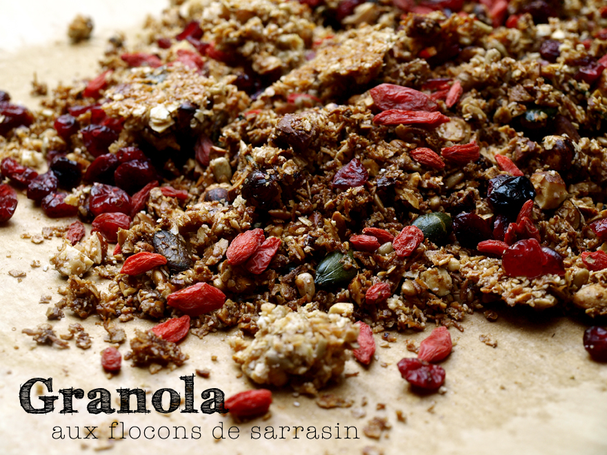 Granola sans gluten aux flocons de sarrasin