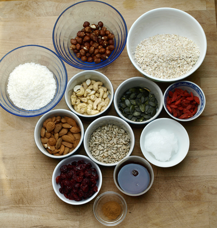 Ingrédients du granola au sarrasin
