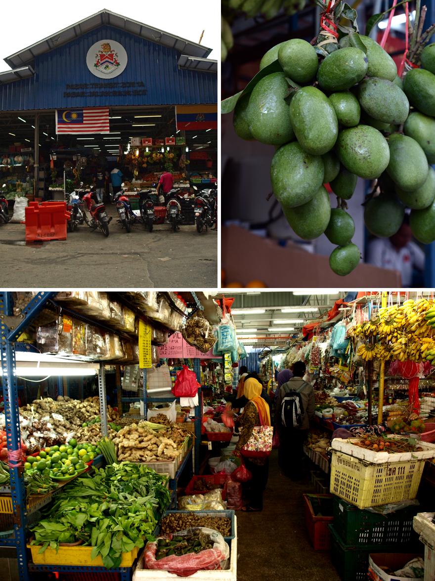 Le marché couvert de Chow Kit à Kuala Lumpur