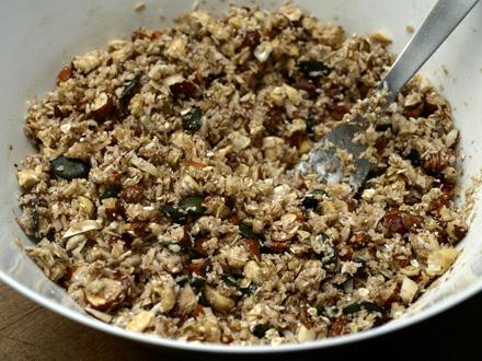 Granola avant cuisson