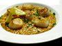 Recette risotto à la bisque de homard et St Jacques