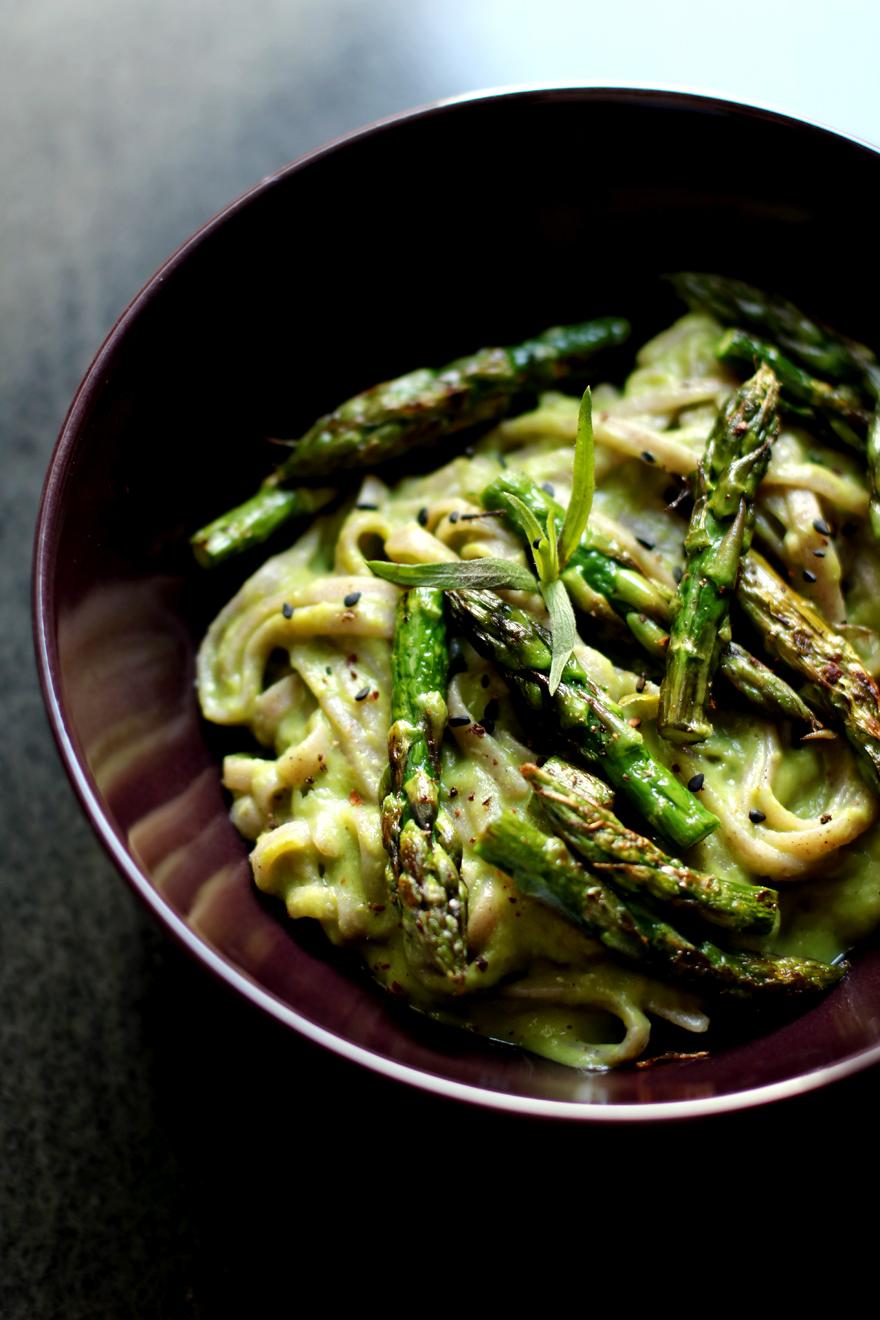 Tagliatelles sauce asperge verte