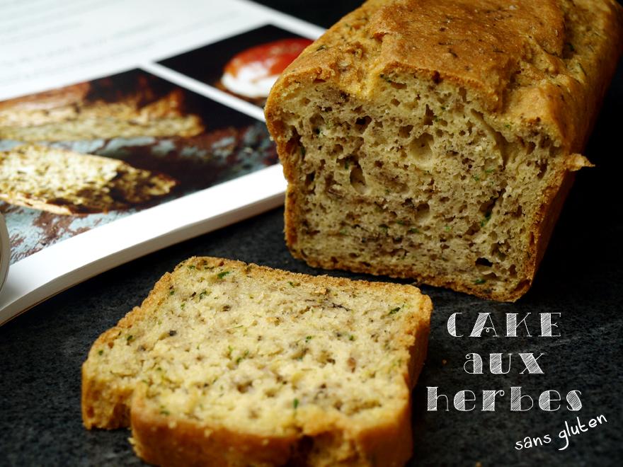 Cake sans gluten apéritif aux herbes