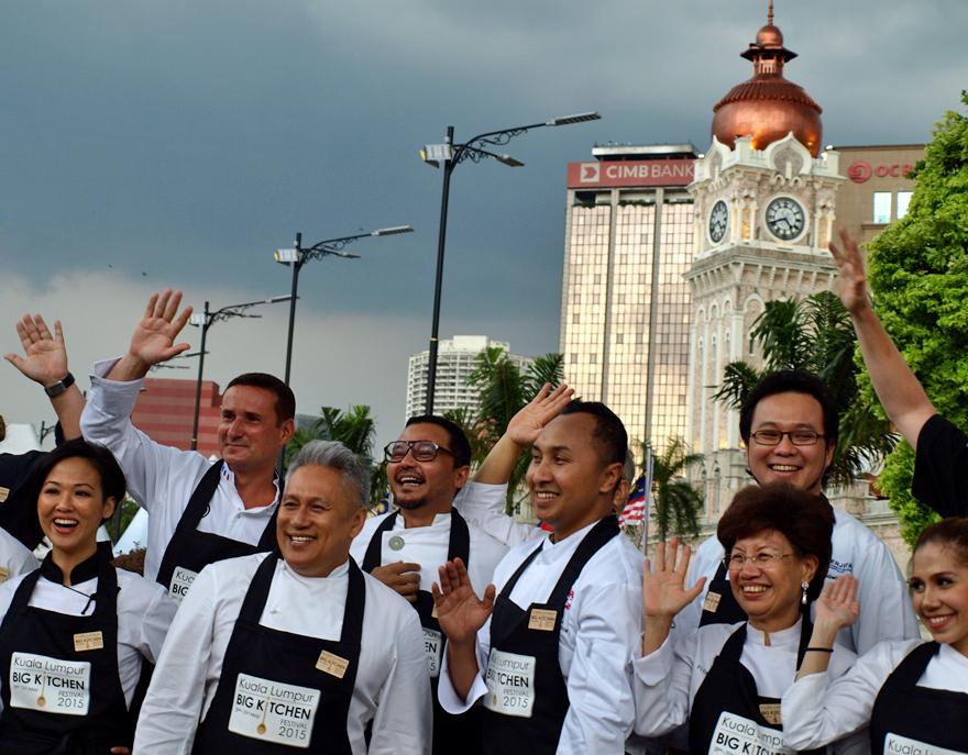 Les chefs réunis au Big Kitchen Festival de Kuala Lumpur