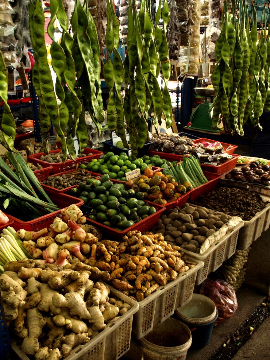 Etals du marché de Chow Kit à Kuala Lumpur