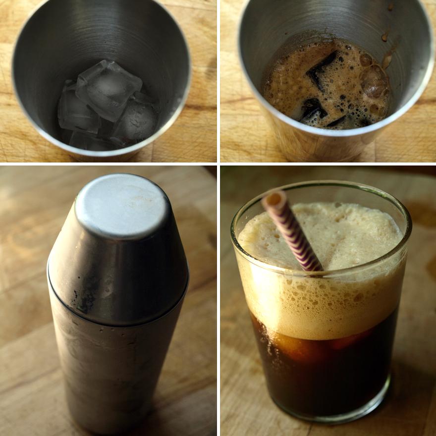 Préparation du café frappé glacé maison