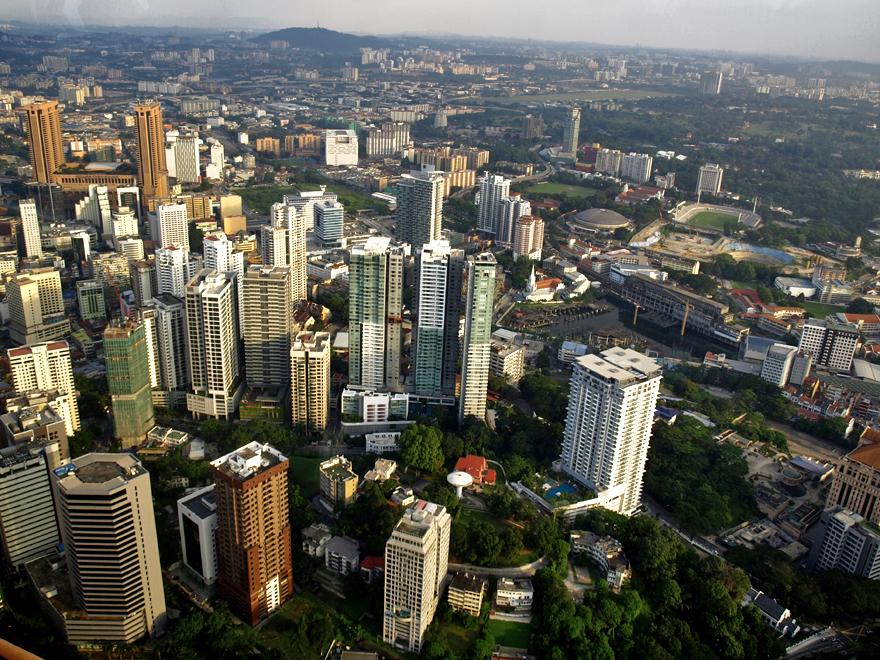 Vue sur Kuala Lumpur (Malaisie)