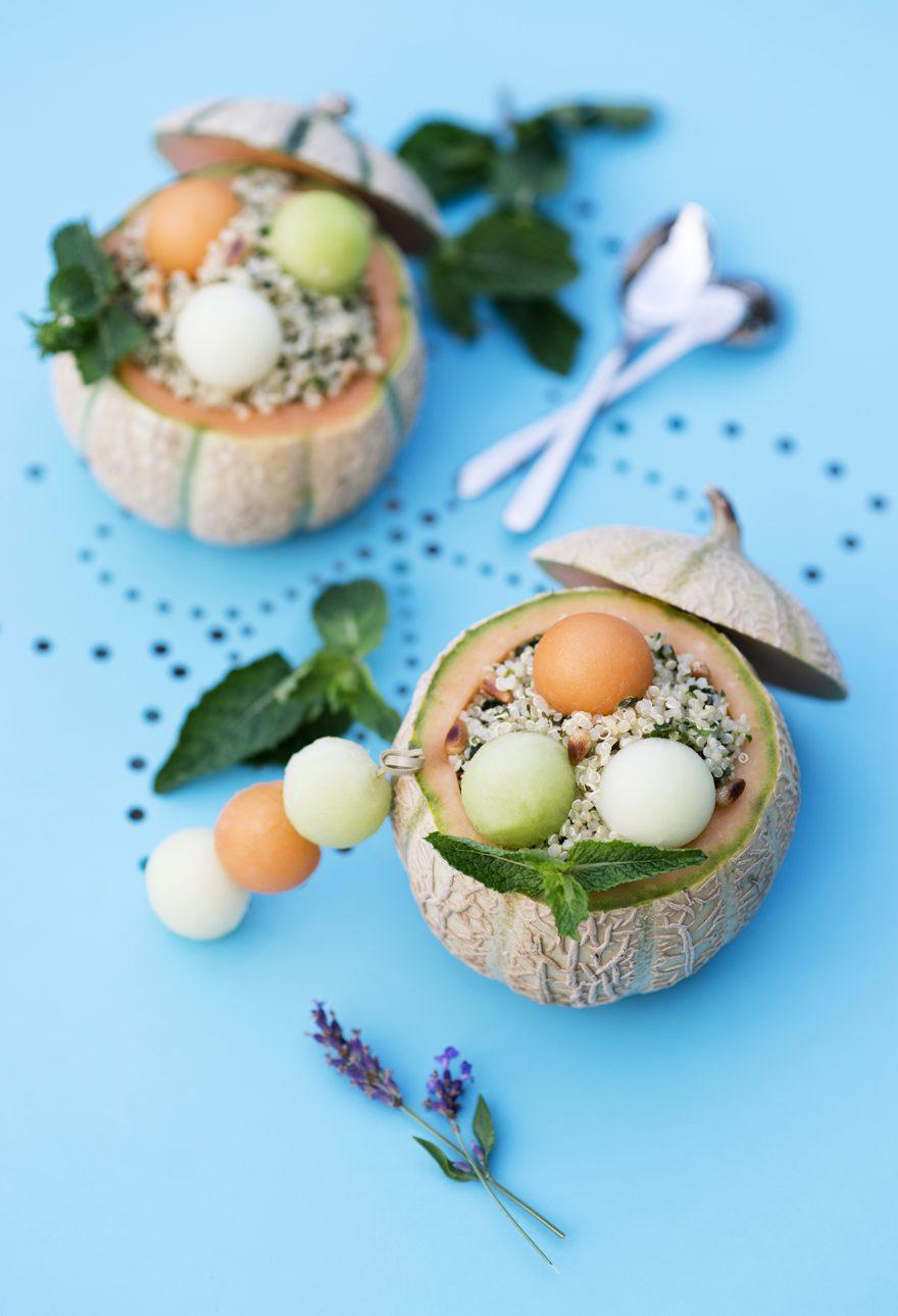 Salade de quinoa aux trois melons © Eugénie Sophie Berger