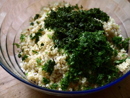 Taboulé de quinoa aux herbes