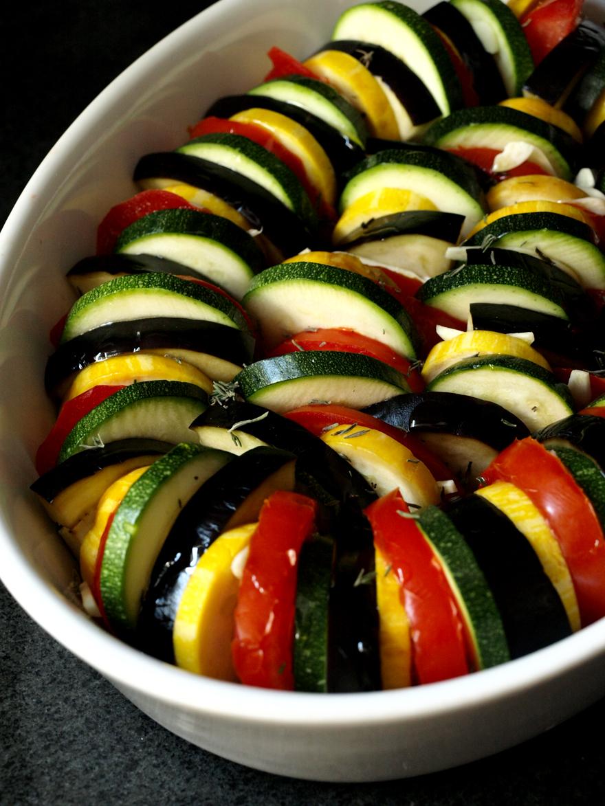 Tian provençal avant cuisson