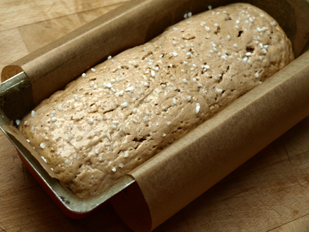 Pâte à pain brioché sans gluten avant cuisson