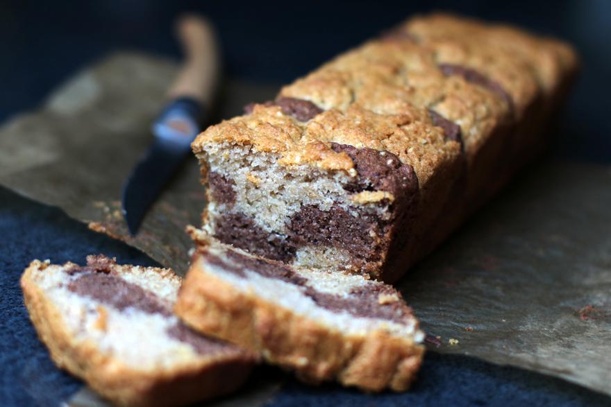 Cake marbré sans gluten/lait/oeuf (vegan)