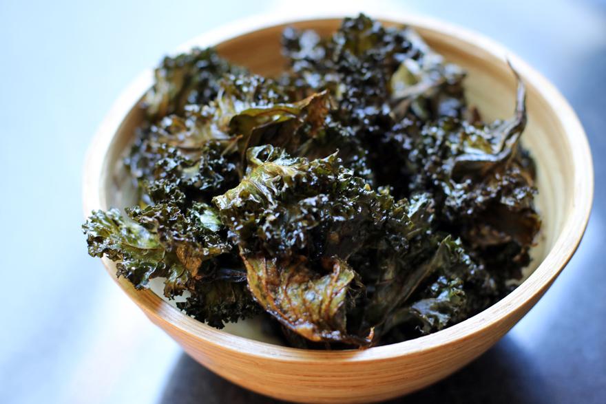 Chips de kale maison